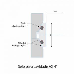 """Selo para cavidade AX 4"""""""